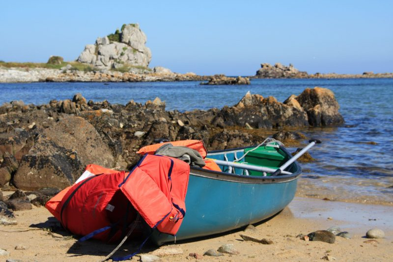 Kleine camping aan zee